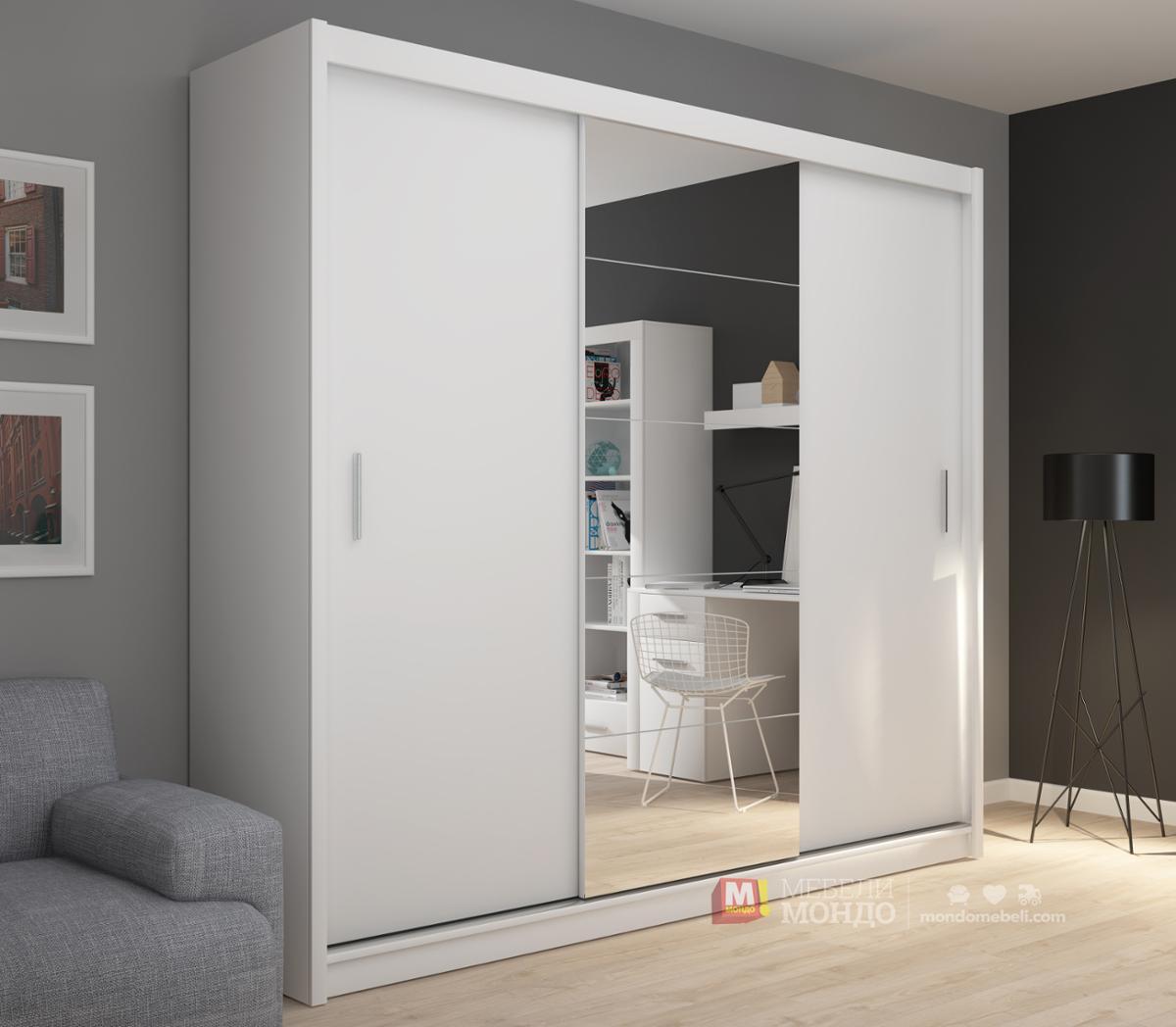 dc299acd58e Бял гардероб Фадо 235 66336 на топ цени — Мебели Мондо