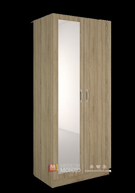 94d0ba62799 Дъб сонома гардероб с огледало Силвър 9 50246 на топ цени — Мебели Мондо