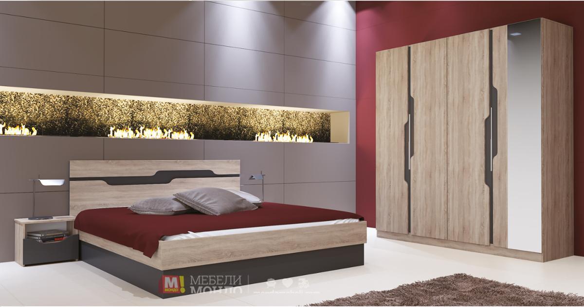 спален комплект смарт 7038 67113 на топ цени мебели мондо